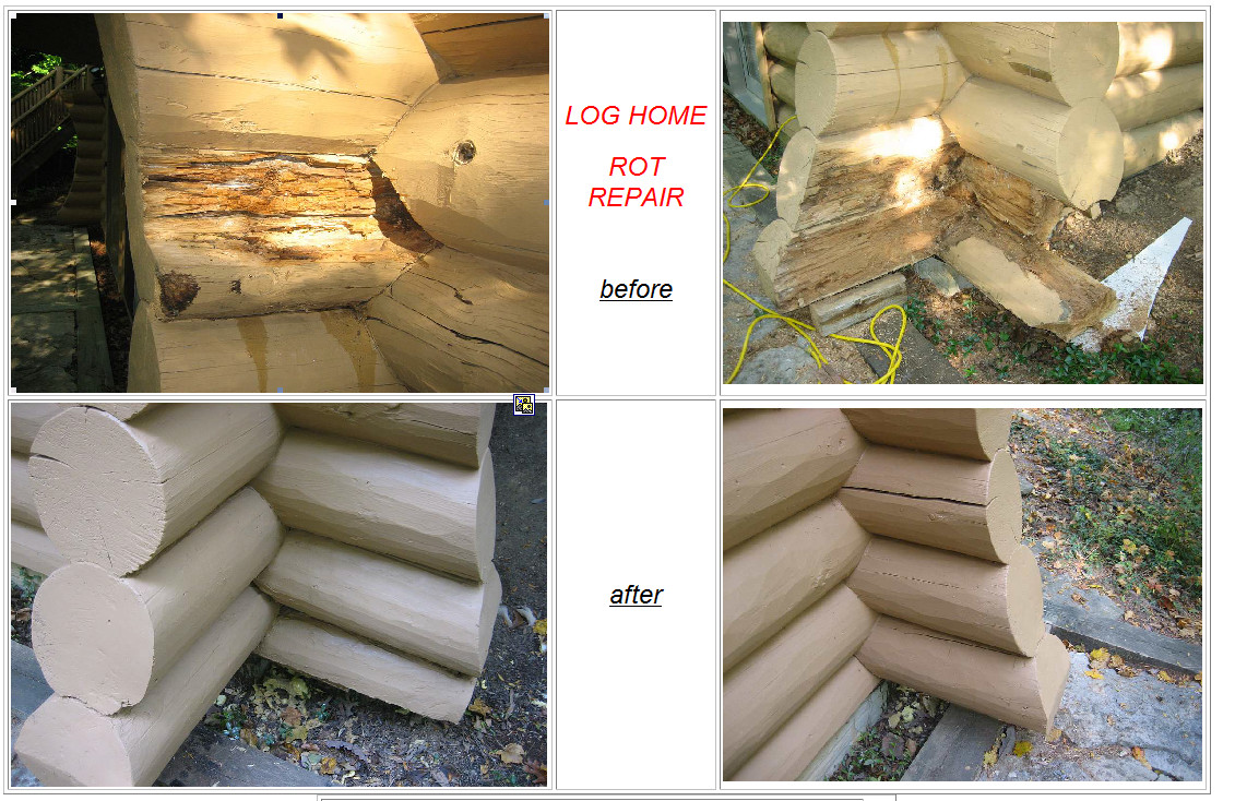 log cabin rot repair